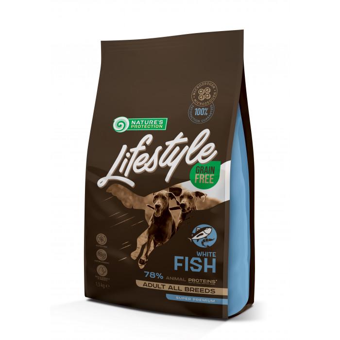 NATURE'S PROTECTION LIFESTYLE Сухой корм для собак All Breeds Adult Grain Free White Fish