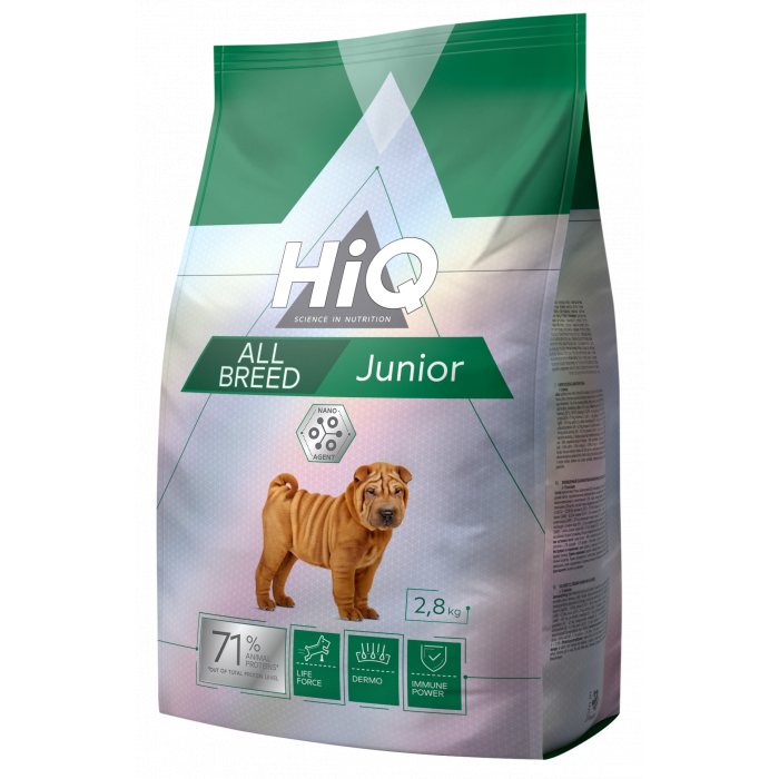 HIQ Kuivtoit koertele All Breed Junior
