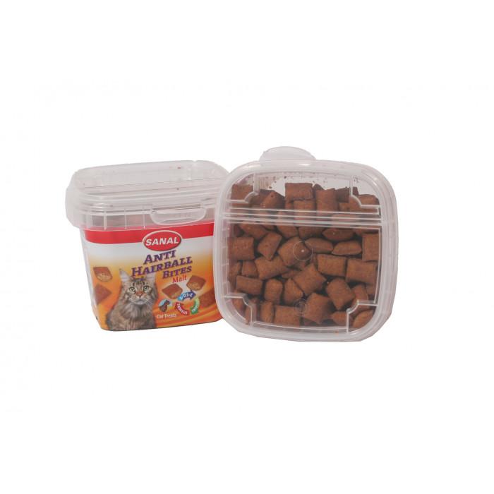 SANAL Anti-Hairball Bites Cups toidulisand kassidele pulstunud karvade vastu