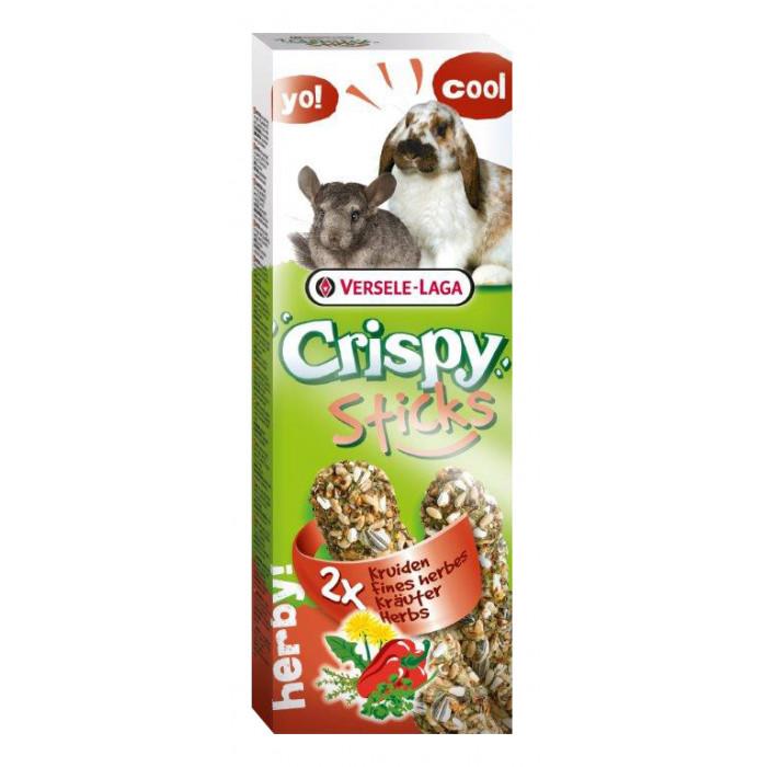 VERSELE LAGA Crispy Sticks maiustused ürtidega küülikutele ja tšinšiljadele