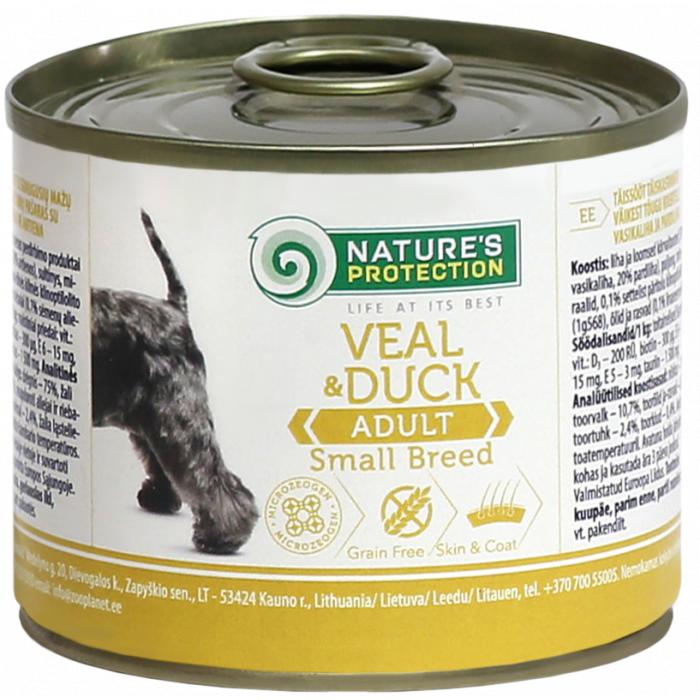 NATURE'S PROTECTION Adult Small Breed Veal & Duck Konservid täiskasvanud koertele