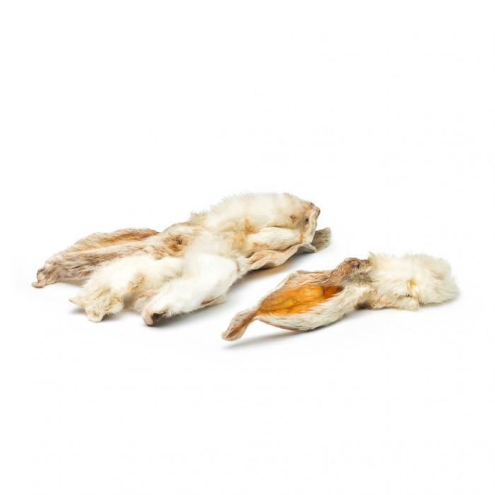 NATURE LIVING Лакомства для собак  cушеные уши кролика с шерстью