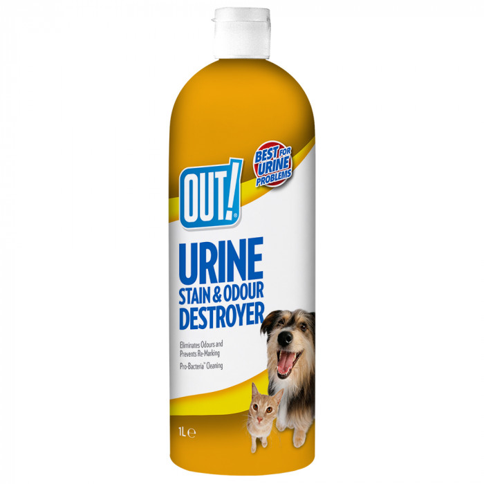 OUT! Dog Urine destroyer, lahus koerte uriini lõhna ja plekkide eemaldamiseks