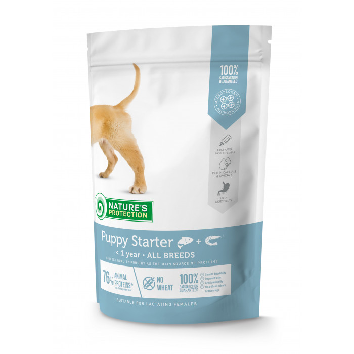 NATURE'S PROTECTION Puppy Starter All breeds Up to 1 year Salmon with krill kutsikatoit