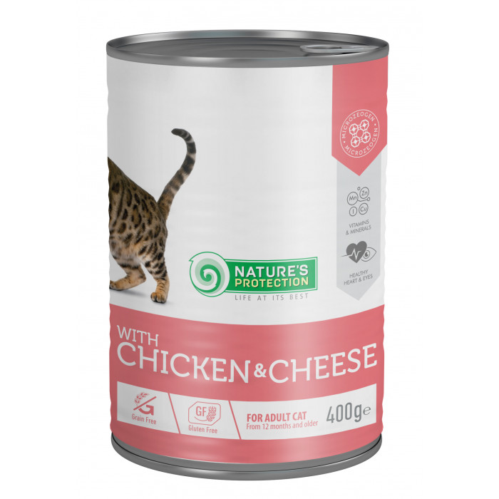 NATURE'S PROTECTION Cat adult with chicken & cheese kassikonservid