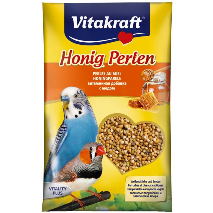 VITAKRAFT Honig Perlen vitamiiniseemned viirpapagoidele