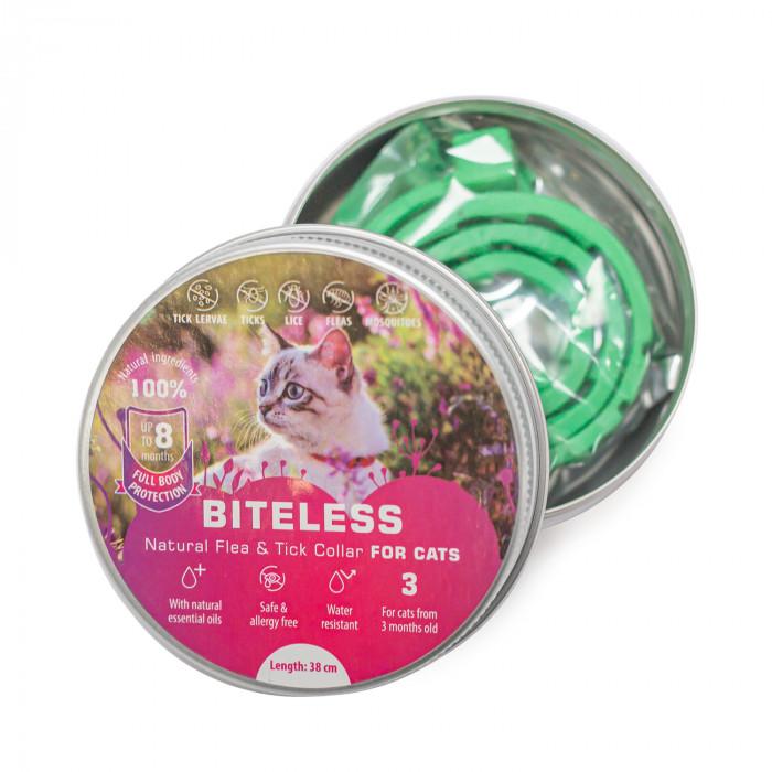 BITELESS Silikoonist parasiitidevastane kaelarihm  kassidele