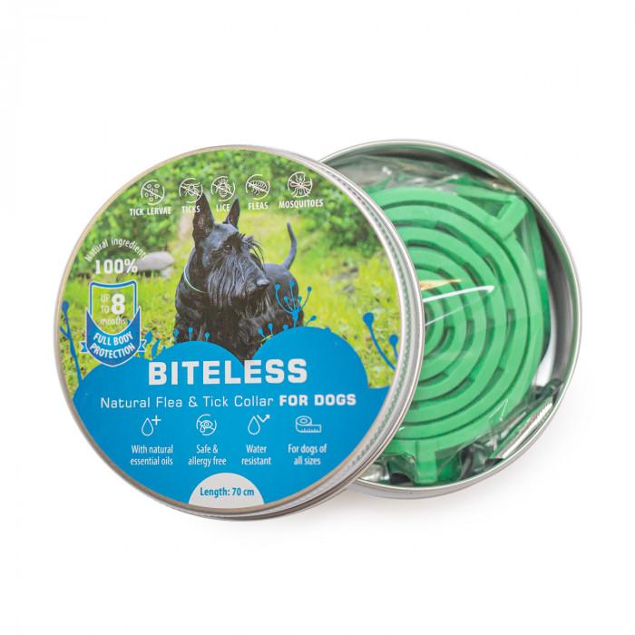 BITELESS Silikoonist parasiitidevastane kaelarihm koertele