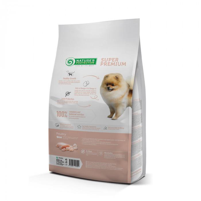 NATURE'S PROTECTION Kuivtoit koertele Mini Small breeds Junior 2-12 months Poultry