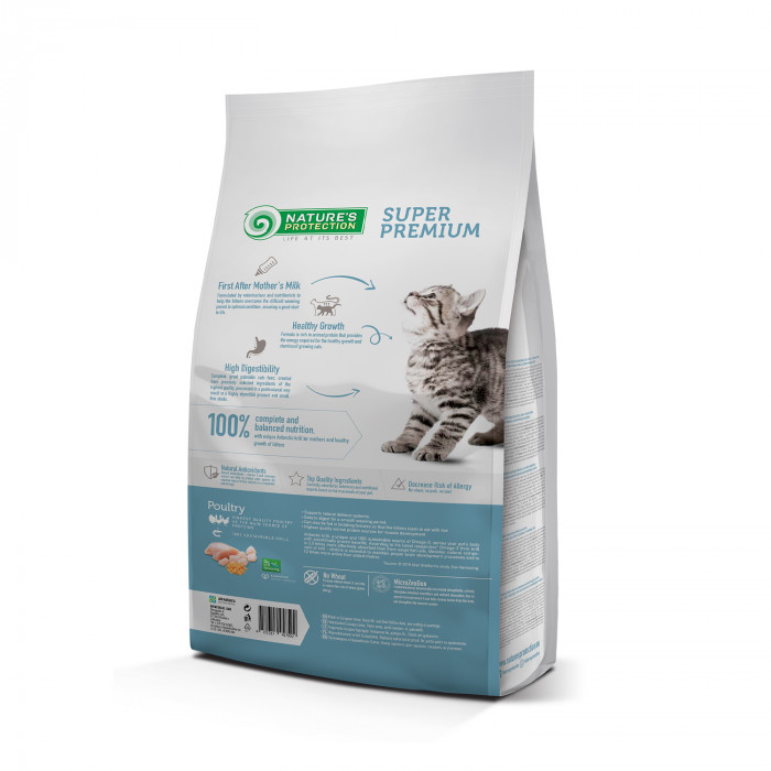 NATURE'S PROTECTION Kuivtoit kassipoegadele Kitten Up to 1 year Poultry with krill