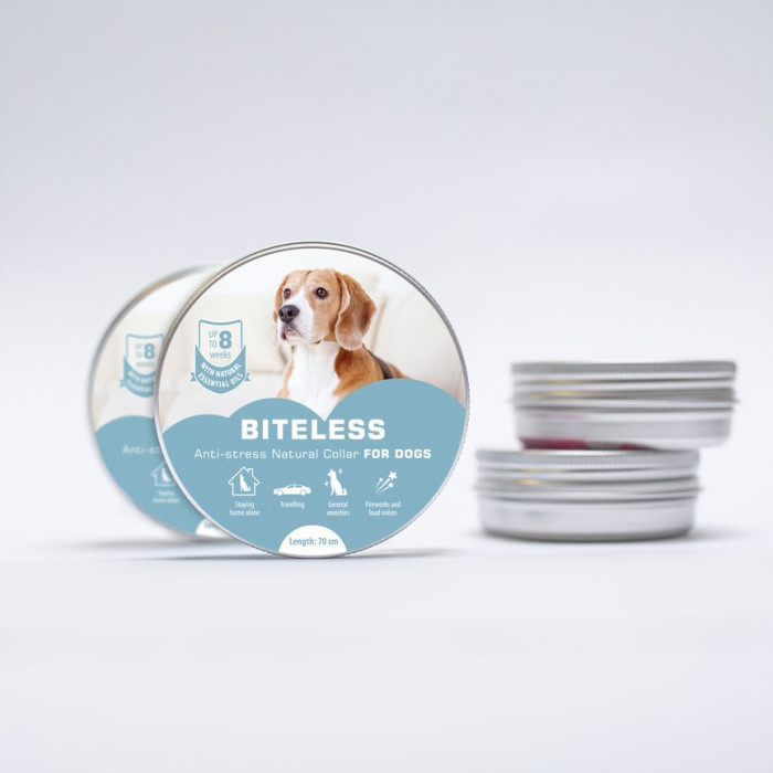 BITELESS Stressivastane kaelarihm koertele