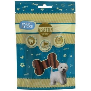 ARATON Лакомство для собак, Палочки из крольчатины 75 г