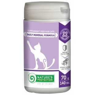 NATURE'S PROTECTION Daily Vitamin Formula добавка для кошек 140 таблетки, 70 г