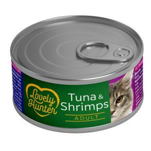 LOVELY HUNTER Kassikonservid tuunikala ja krevettidega 85 g