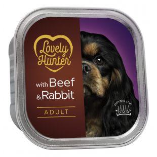 LOVELY HUNTER Dog Adult Beef & Rabbit koerakonservid 150 g