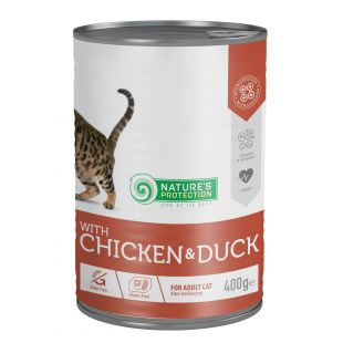 NATURE'S PROTECTION Cat Sterilised with chicken & duck консервы для кошек 400 г