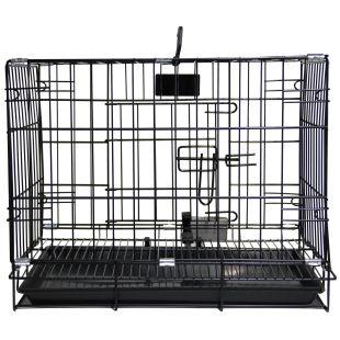 HIPPIE PET Metallpuur lemmikloomade transportimiseks must, 91x56x67 cm