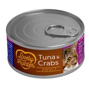 LOVELY HUNTER Консервы для кошек с тунцом и крабами 85 г