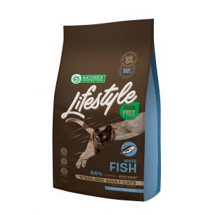 NATURE'S PROTECTION LIFESTYLE Kuivtoit kassidele Lifestyle Grain Free Sterilised White Fish Adult Cat 1,5 kg