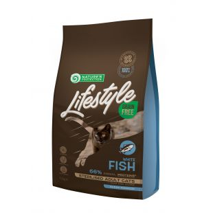 NATURE'S PROTECTION LIFESTYLE Сухой корм для кошек Lifestyle Grain Free Sterilised White Fish Adult Cat 1.5 кг