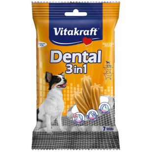 VITAKRAFT Dental 3in1 Extra Small närimispulgad koertele 70 g