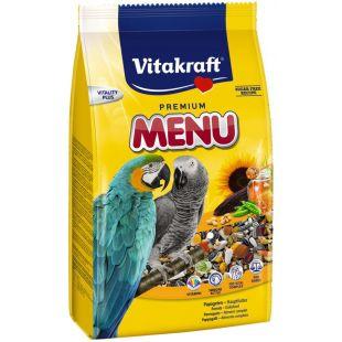 VITAKRAFT Menu Honig корм для попугаев ара и жако 1 кг