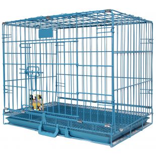 HIPPIE PET Metallpuur lemmikloomade transportimiseks sinine