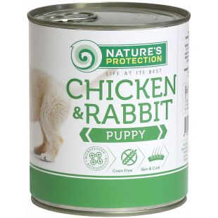 NATURE'S PROTECTION Puppy Chicken & Rabbit Консервы для щенков 800 г
