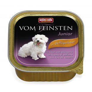 ANIMONDA Vom feinsten Junior Konservid noortele koertele linnumaksaga 150 g