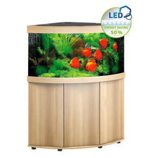 JUWEL LED Trigon 350 akvaarium, nurgeline heledast puidust