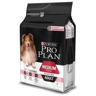 PRO PLAN Сухой корм для собак Sensitive Skin Medium Adult 3 кг