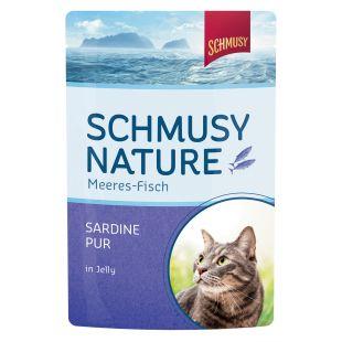 FINNERN MIAMOR Schmusy Nature Meeres-fish Консервы для кошек с сардинами в желе 100 г