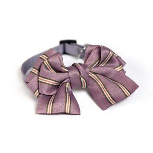 CHEE PET Бантик Paw Couture с полосками S, фиолетовый
