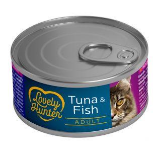LOVELY HUNTER Kassikonservid tuunikala ja kalaga 85 g