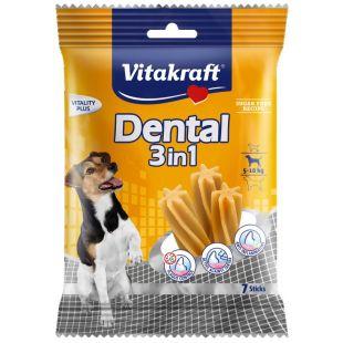 VITAKRAFT Dental 3in1 Small närimispulgad koertele 120 g