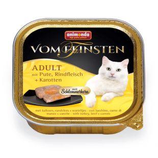 ANIMONDA Vom feinsten schlemmerkern Kassikonservid kalkuni-, veiseliha ja porgandiga 100 g