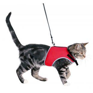 TRIXIE Шлейка с поводком для кошек 24-42 см / 1.2м