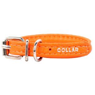 COLLAR Nahast ümmargune kaelarihm pikakarvalistele koertele 0,6 cm x 25-33 cm