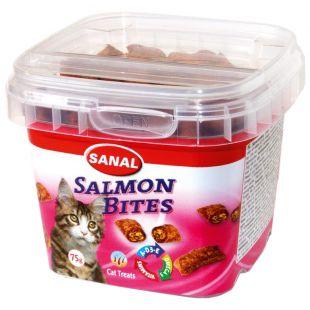 SANAL Salmon Bites Cup кормовая добавка для кошек 75 г