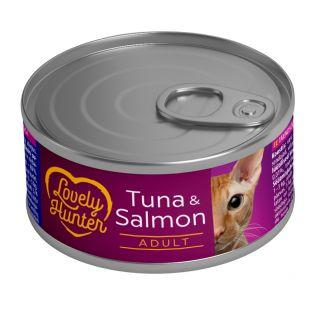 LOVELY HUNTER Kassikonservid tuunikala ja lõhega 85 g