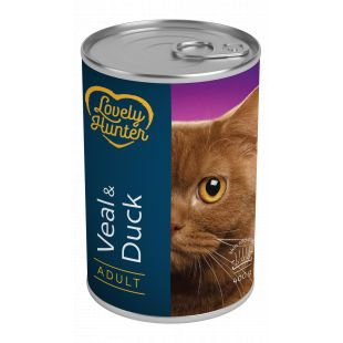 LOVELY HUNTER Cat adult veal and duck kassikonservid 400 g
