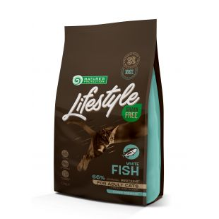NATURE'S PROTECTION LIFESTYLE Сухой корм для кошек Lifestyle Grain Free White Fish Adult 1.5 кг