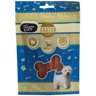 ARATON Лакомство для собак, кусочки из курицы 75 г