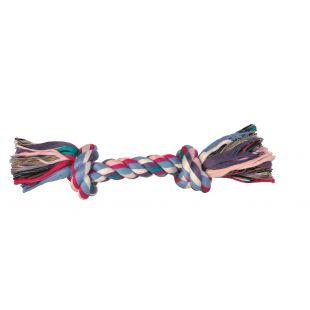 TRIXIE Игрушка для собак, свернутая разноцветная веревка 125 г, 26 см