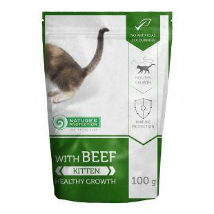 NATURE'S PROTECTION Healthy growth Kitten With beef, консервы для котят с говядиной, в пакетике 100 ?