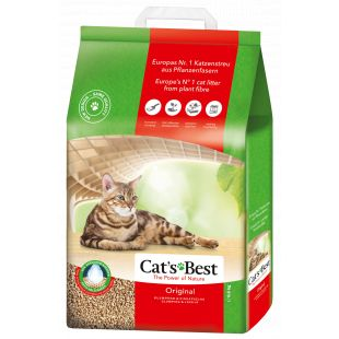 JRS CAT'S BEST ORIGINAL наполнитель для кошачьего туалета, древесный, комкующийся 20 л