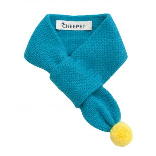 CHEE PET Шарф Paw Couture S, синий