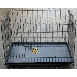 HIPPIE PET Metallpuur lemmikloomale must, 90x60x62 cm