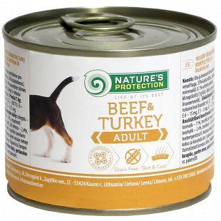 NATURE'S PROTECTION Adult Beef & Turkey Konservid täiskasvanud koertele 200 g