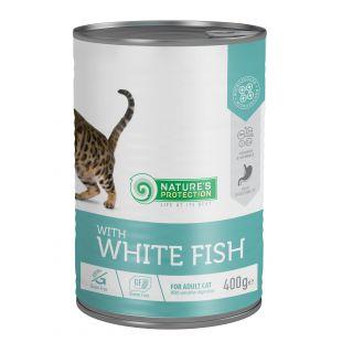 NATURE'S PROTECTION Cat sensitive digestion with white fish консервы для кошек 400 г